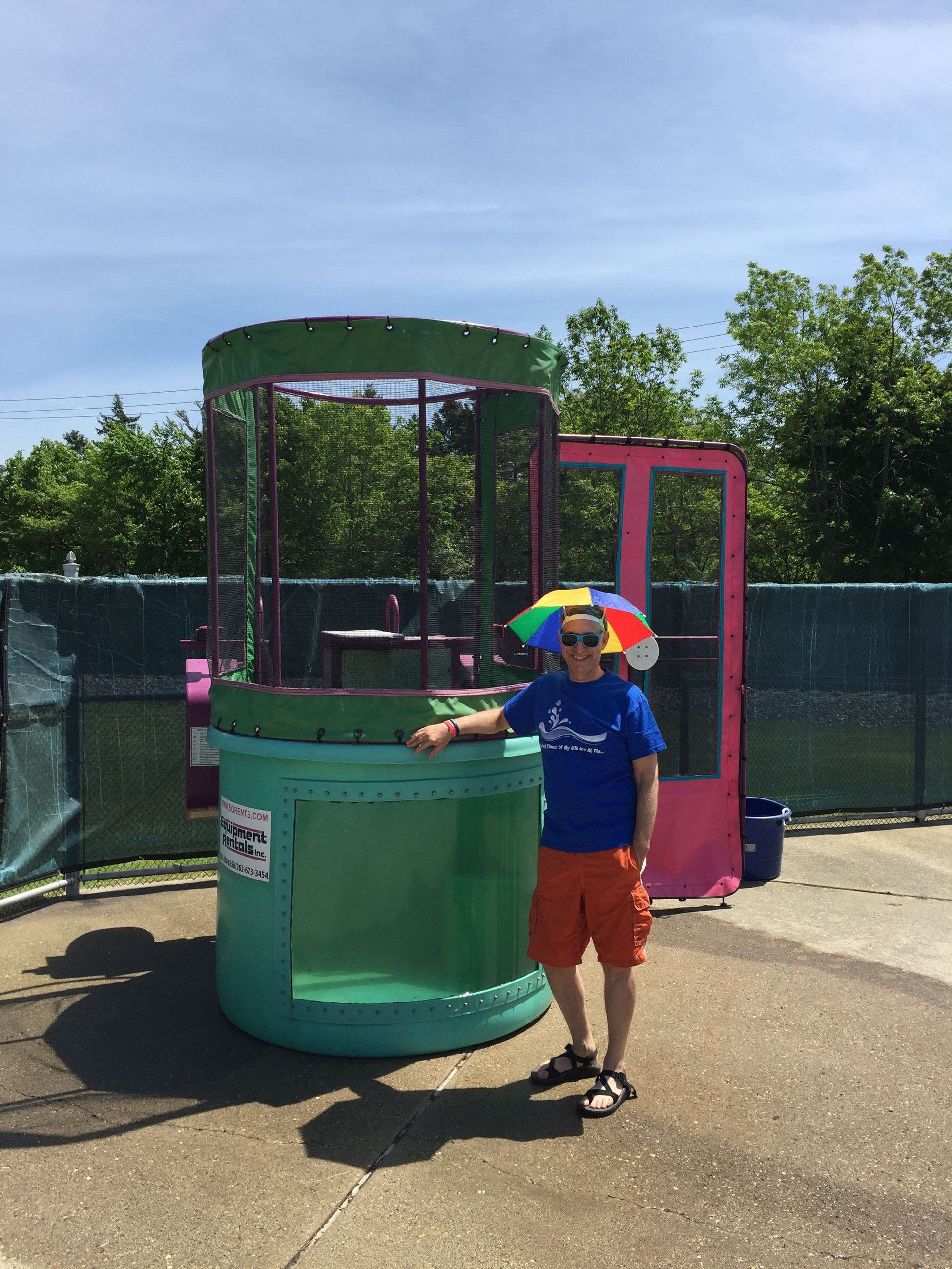 Volunteer with the dunk tank
